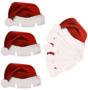 c3bdb9c5fbfc1 10pcs lot Wine Glass Decorative Cap Merry Xmas Santa Claus Reindeer  christmas Tree Hat Toppers Decoration Happy New Year Gifts