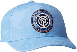 save off 6541a 6702b MLS New York City FC Adult Men MLS SP17 Fan Wear Tonal Camo Structured  Adjustable Cap,OSFM,Blue