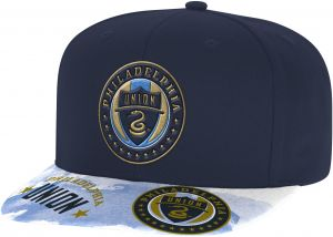 new product 2146e 62b65 adidas MLS Philadelphia Union Adult Men Sublimated Flat Brim Snapback Hat,  One Size, Navy
