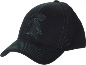 premium selection f35e4 ef00e Zephyr NCAA Michigan State Spartans Men s Finisher Z-Fit Cap, Medium Large,  Black
