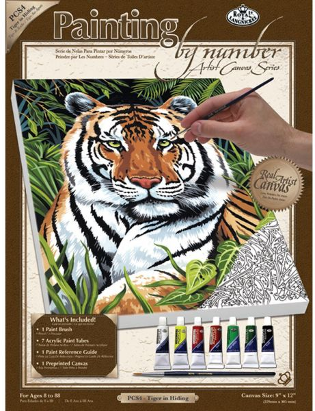 Royal Langnickel Painting By Numbers Small Canvas Set Tiger In Hiding Souq Uae