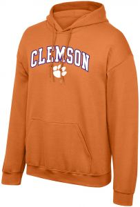 4cb03b6f6 Elite Fan Shop NCAA Clemson Tigers Men's Arch Hoodie Sweatshirt, Orange,  Small