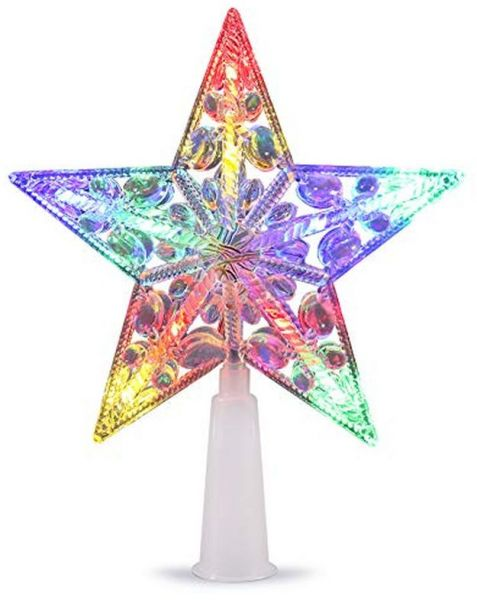 Volador Christmas Tree Topper Star Led Treetop Star Light Ornament For Xmas Tree Decoration