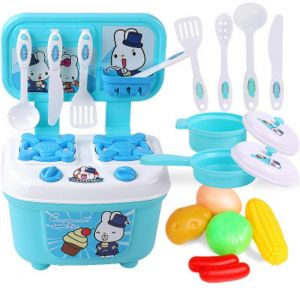 Kitchen Cooking Set Girls Boys Fruit Vegetable Tea Playset Toy For