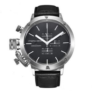 pagani design chronograph display leather band waterproof watch for