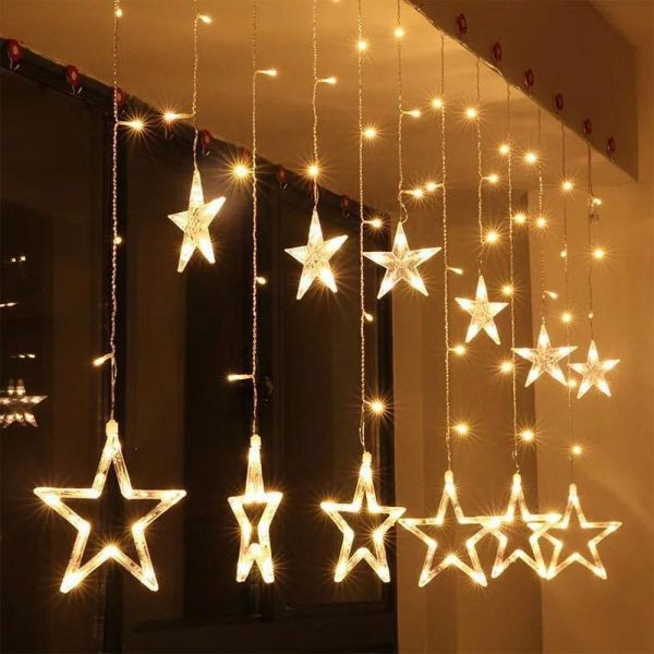 Christmas Curtain Led Lights Ac 220v Fairy Star Outdoor Indoor String Light Forparty Wedding Home Decor Souq Uae