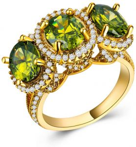 13bb1a21f Buy 025 3 stone ring | Gems Stone King,Amazon Collection,Calvin ...
