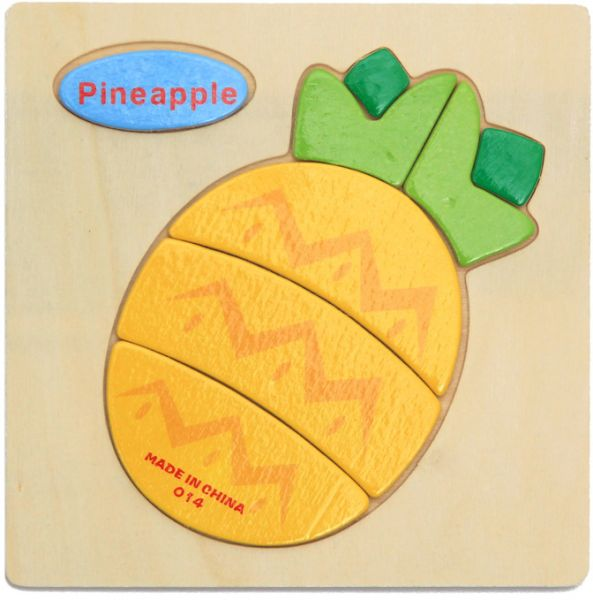 Wooden Puzzles Children Cartoon Animal And Fruit Traffic Pattern Three Dimensional Puzzle Baby Educational Toys Jigsaw Puzzle Childrens Puzzle Toy