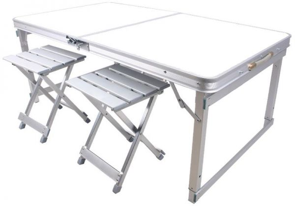 Picnic Table 1.2 m Aluminum Alloy Outdoor Folding Table Portable Table