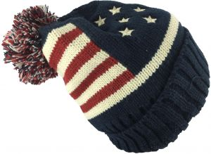 ffac3a3e23f American Flag Beanie   Bobble Hat For Unisex