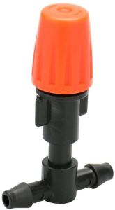 Orange atomizing Nozzle 20pcs Small Size Plastic Adjustable Sprayer Nozzles Suits Garden Water Cooling Spray Sprinkler Nozzle Suit Drip Irrigation Pipe ...