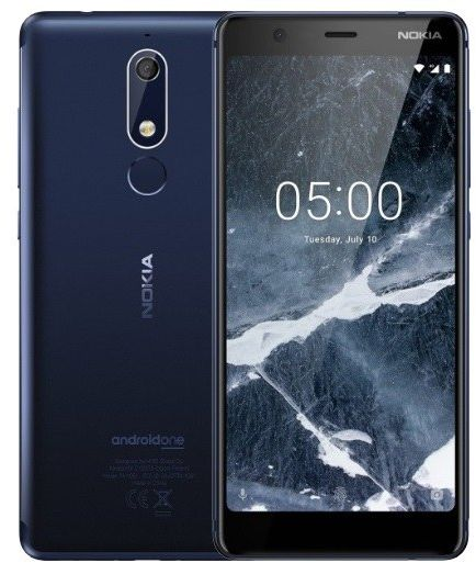 Nokia 5.1 Dual SIM - 16GB, 2GB RAM, 4G LTE, Tempered Blue