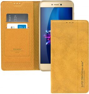 Buy rich boss flip cover for huawei p8 lite gold 9709578