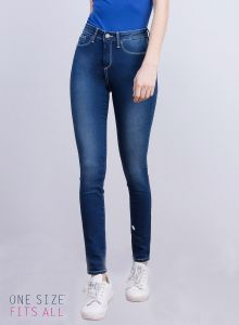 Tiffosi Blue One Size High Skinny Fit Jeans (TFS004) : Buy