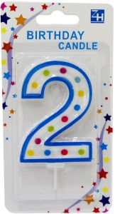 Party Time Unscented 2 Number Birthday Candle 1 Piece Multi Color