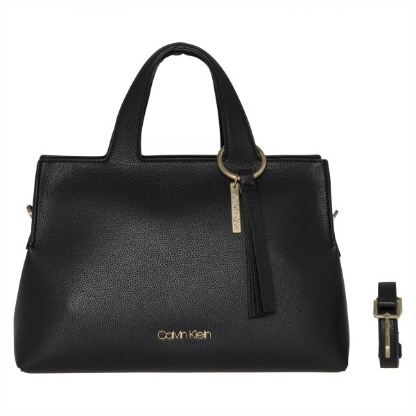 Calvin Klein Neat Large Tote Bag For Women Mixed Black
