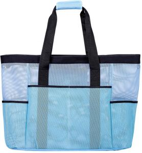7dee84ab47a1 Beach Bag Tote Lightweight for Toy Grocery Picnic Pool Blue