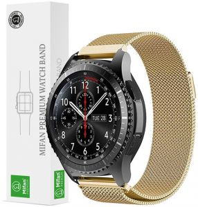 Samsung Gear S3/2018 Galaxy Watch 46mm Mifan Milanese Loop Band Strap Replacement 22mm Premium Mesh Stainless Steel Silver Anti Sweat Cooling with Magnetic ...