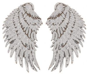 Angel Wings Patches Sew on Iron on Patch Applique for Clothing Jeans  Handbags 1 Pair 2dd95061c34b