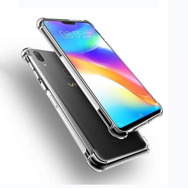 VIVO V9 Case, Crystal Clear Airbag Anti Crack Slim Phone Cover | Souq - UAE