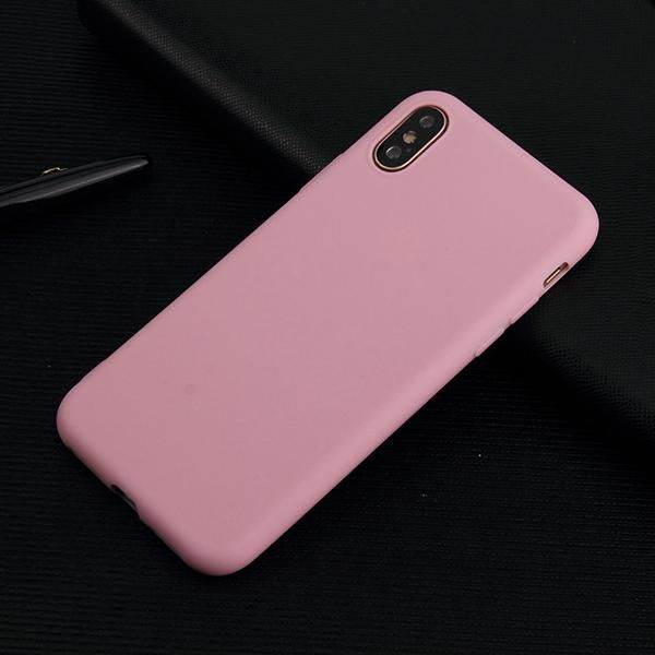Slim Fit silicone Tpu Gel Rubber Mobile Phone Case Cover For Iphone X / XS  - Pink