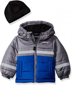 most reliable color brilliancy top-rated discount London Fog Little Boys' Color Blocked Puffer Jacket Coat Hat, Real Blue, 4
