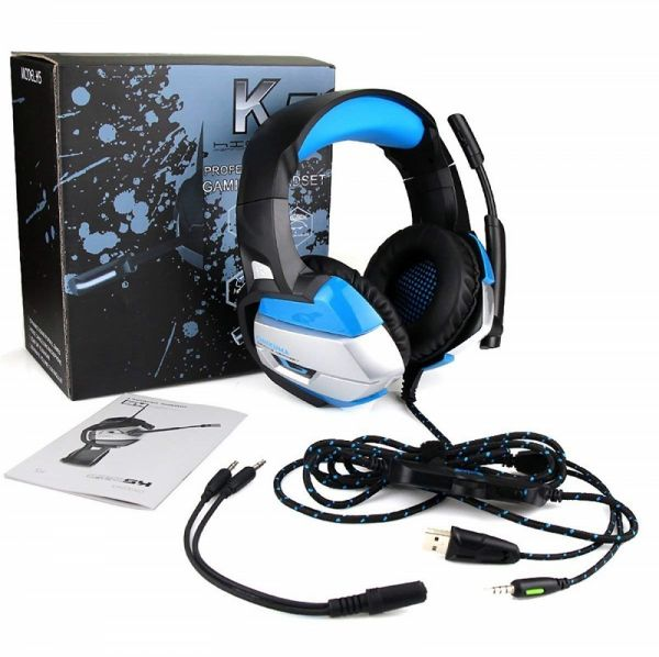 ONIKUMA Gaming Headset for PS4, Xbox One, Nintendo Switch, PC  Over Ear  Gaming Headset with 7 1 Stereo Surround Sound, LED Lights, Noise Canceling  and