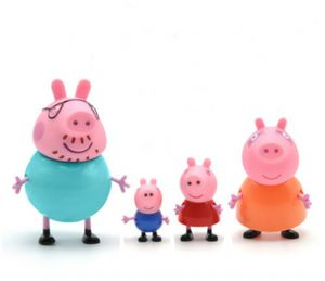 4pcs/set Action Figure Peppa pig Family Pack For Kids Gift Toys