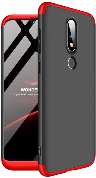 huge selection of 08619 715f5 Nokia 6.1 Plus Case, GKK 3 in 1 Combo Full Body Protective Matte Back Cover