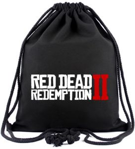 Red Dead Redemption 2 Canvas Drawstring Bags Kids Book Rucksack Study  Stationery Sport Souvenir Cartoon Gift Bag Action Toys bdef1ce69acf5