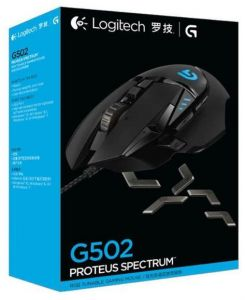007602467b4 Logitech G502 Professional gaming mouse Support multi-button programming RGB  mouse 12000DPI Weightable for PUBG CSGO FPS