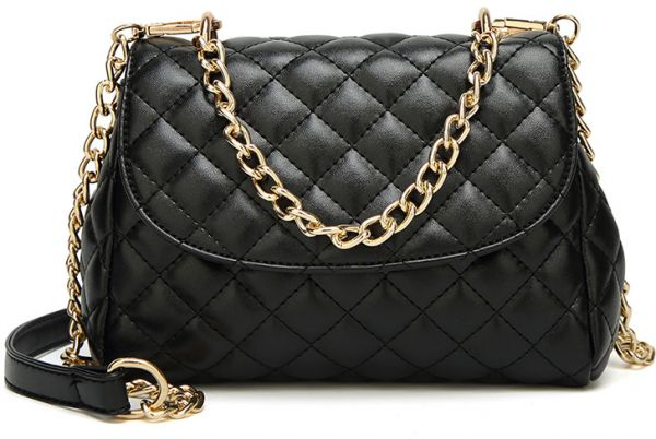 Classic Crossbody Shoulder Bag for Women Quilted Purse With Metal Chain  Strap  7bbaffee3f