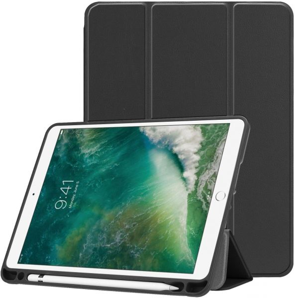 check out 7905e d5318 Compatible for iPad 9.7 TPU smart case with apple pencil holder - Ultra  Lightweight Standing Protective Cover with Auto Wake/Sleep compatible with  ...
