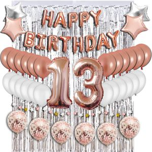 13th Birthday Decorations Party Supplies Sweet 13 Balloons