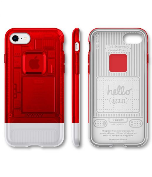 official photos 8d328 8be2a Spigen Classic C1 Back Cover For Apple IPhone 8 - Red Silver