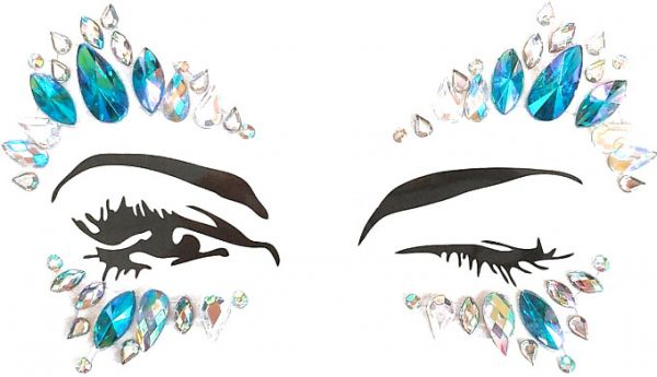 Top Sale Body Jewelry Rhinestone Rave Festival Face Jewels Crystals Face  Stickers Luminous Women Mermaid Face Gems Glitter Eyes Face Body Temporary  Tattoos ... f0e382abca3c