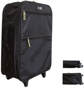 Travel Ready Collapsible Cabin Approved Ultra-Lightweight 2 Wheel Trolley  Bag d8d9c1693d