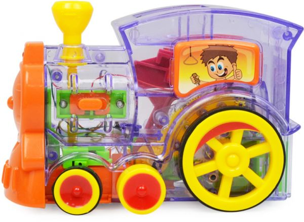 Domino Automatic Delivery Vehicle Building Blocks Toy Car Wheels Locomotive Electronic Toys For Kids Birthday Gift