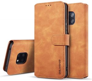 Huawei Mate 20 Pro Case, Magnetic Detachable 2 in 1 Genuine Cowhide Leather Folio Flip Wallet Cases Back Cover for Mate 20 Pro 6.39 Inch, pack of 2, brown