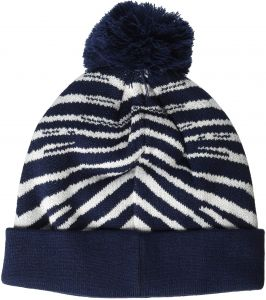 545512767ff Zubaz Men s Knit Winter Stocking Beanie Pom Hat