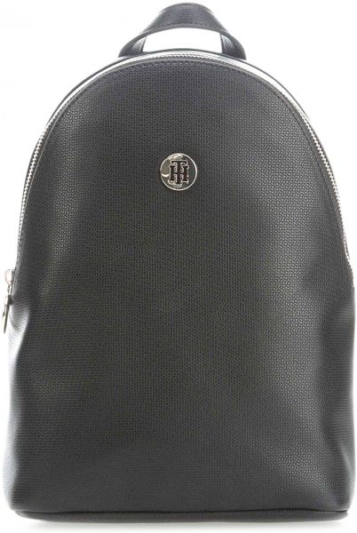 428d5835671 Tommy Jeans Effortless Saffiano Backpack for Women, Black - AW0AW06129