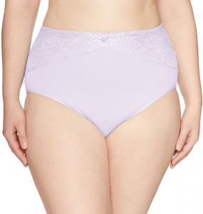 22106d30b Ahh By Rhonda Shear Women s Plus Size Seamless Brief with Lace Inset