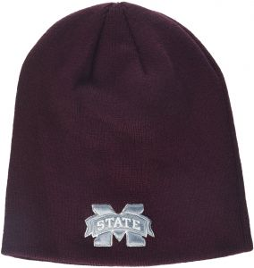 3e375a0a7dbfd4 Zephyr NCAA Mississippi State Bulldogs Adult Men Edge Knit Beanie,  Adjustable, Team Color