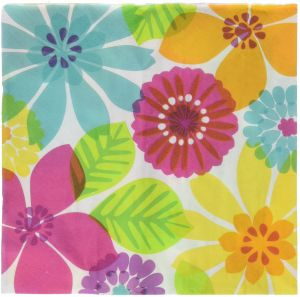 832e0c2a6a177 Amscan Luau Party Bright Floral Paradise Luncheon Napkins Tableware