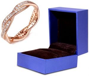 52322b56c8 Rose Gold Plated Qings Brand Girls Ring Perfect Gift for Women and Girls,  925 sterling Silver 8US