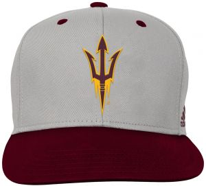 Outerstuff NCAA Arizona State Sun Devils Children Boys Grey 2-Tone Flat  Brim Snapback Hat 5aa3ea8058b1