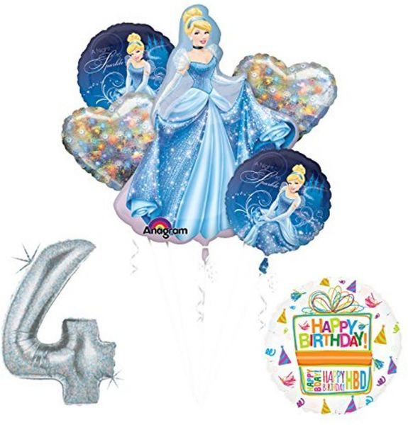 Mayflower Products Cinderella 4th Birthday Party Supplies And