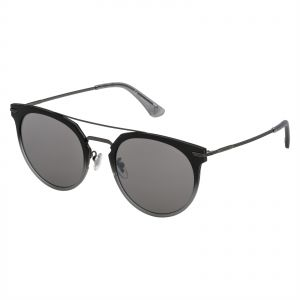 c38e08884c371 Police Oval Sunglasses for Men - Smoke Mirror Silver Lens