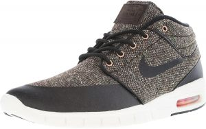 sports shoes 8fc3b 0648e Nike Mens Stefan Janoski Max Mid Baroque Brown  Laser Crimson Sail Black  Mid-Top Fashion Sneaker - 8M