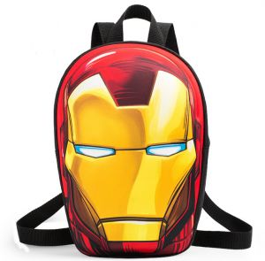 3D Print Iron Man kindergarten School Backpacks Student fluorescent  schoolbag children cartoon shoulder bag fa33cf5aa9